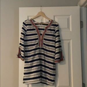 Mud Pie~ Wellington Embroidered Tunic Covers Up